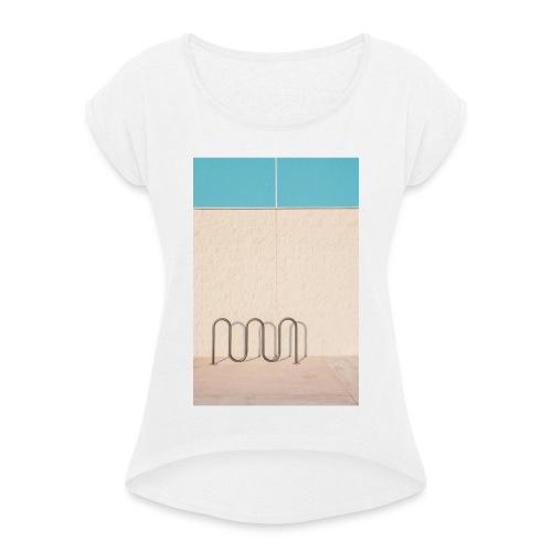 Wave - Frauen T-Shirt mit gerollten Ärmeln