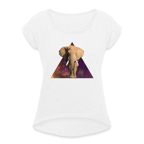 Elephant - Maglietta da donna con risvolti