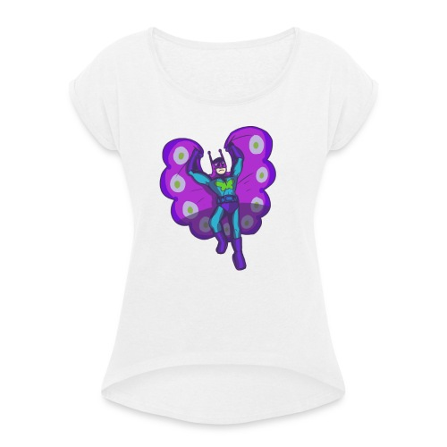Butterflyman - Women's T-Shirt with rolled up sleeves