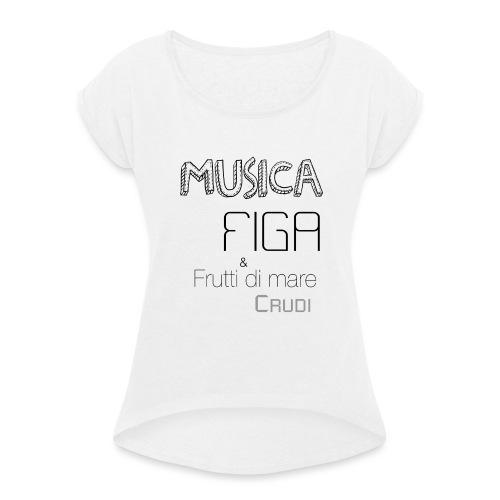 Musica F&F - Maglietta da donna con risvolti