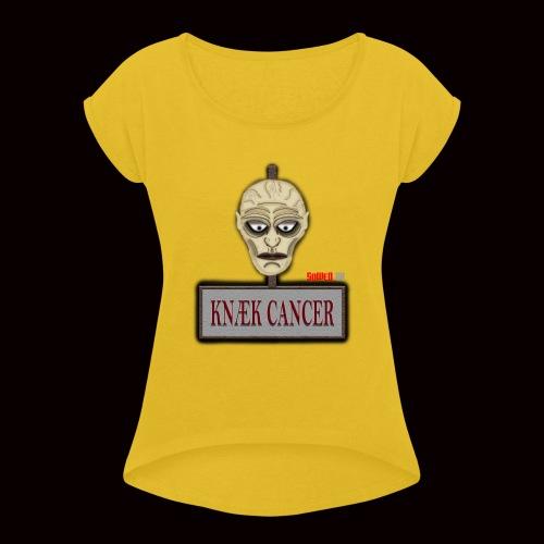 Knæk Cancer Kollektion ! - Dame T-shirt med rulleærmer