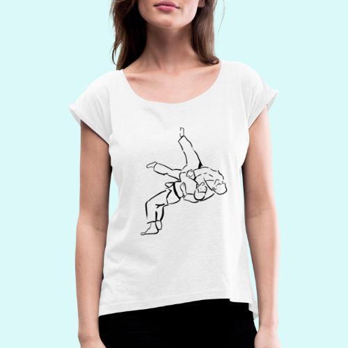judo - T-shirt à manches retroussées Femme