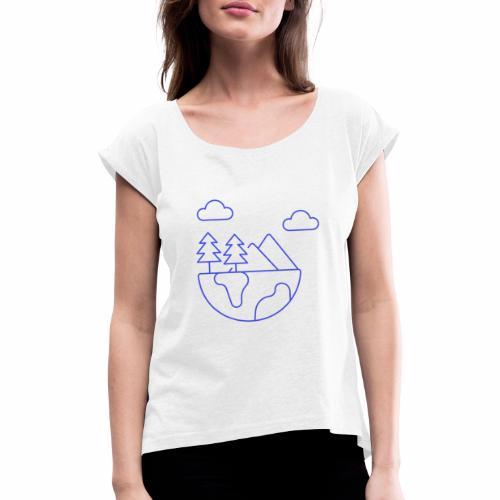 Eco - Frauen T-Shirt mit gerollten Ärmeln