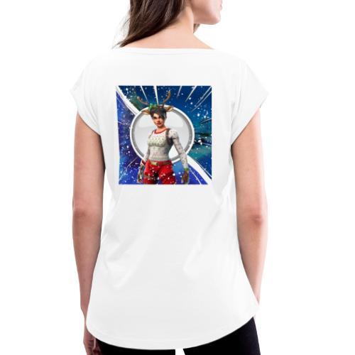 Paalc - T-skjorte med rulleermer for kvinner