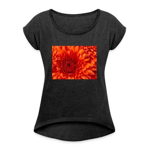 Chrysanthemum - Vrouwen T-shirt met opgerolde mouwen