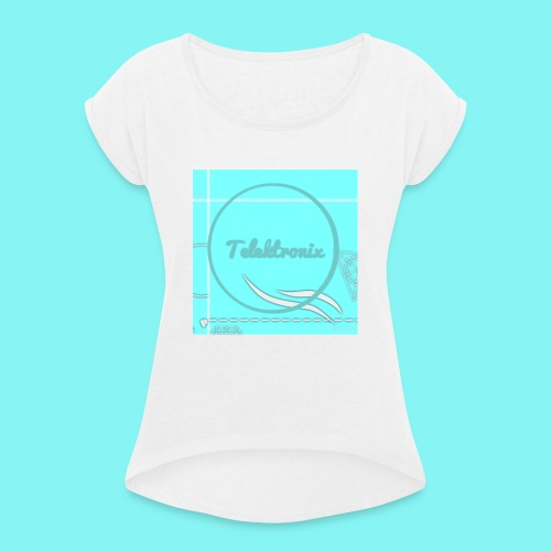 Telektronix Special Edition Logo - Women's T-Shirt with rolled up sleeves