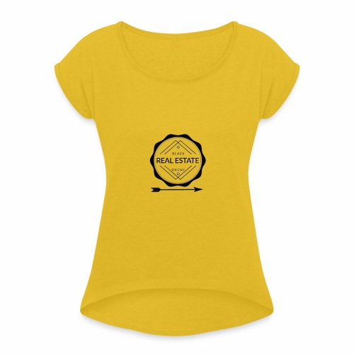 REAL ESTATE. - Camiseta con manga enrollada mujer