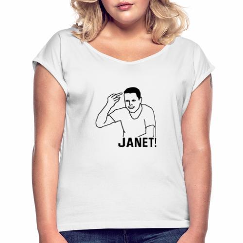 Frank The Tank - Vrouwen T-shirt met opgerolde mouwen