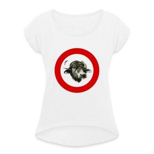 @mozzarellasuprema - Maglietta da donna con risvolti