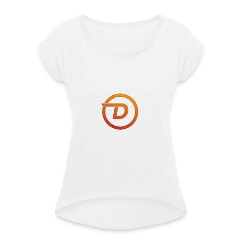 Demo Esport Logo - T-skjorte med rulleermer for kvinner