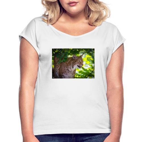 Luchs - Frauen T-Shirt mit gerollten Ärmeln