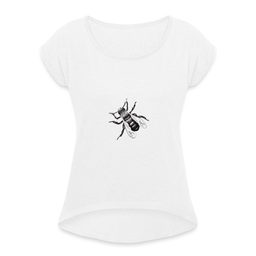 Bee - Women's T-Shirt with rolled up sleeves