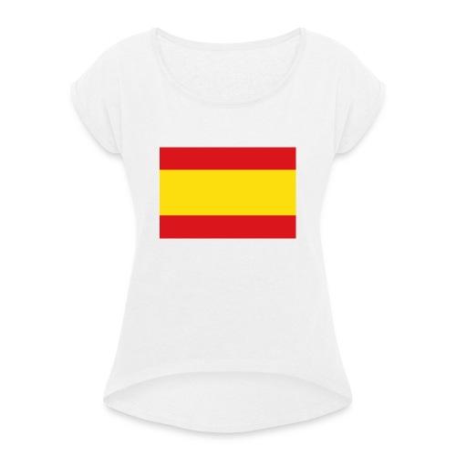 vlag van spanje - Vrouwen T-shirt met opgerolde mouwen