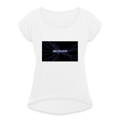 bilde-jpg - T-skjorte med rulleermer for kvinner