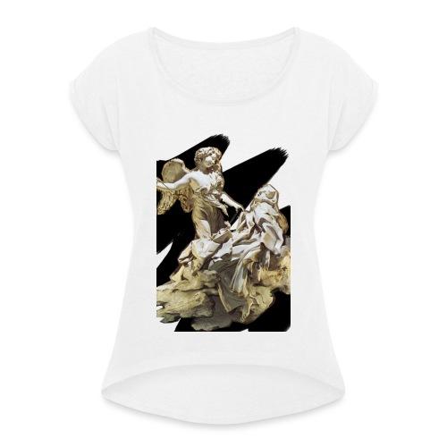 Éxtasis de Santa teresa - Camiseta con manga enrollada mujer