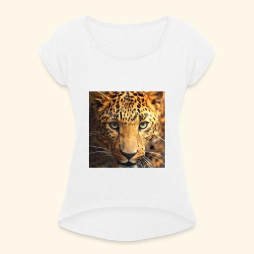 5f8f974bca3aec0001be0a56 - T-shirt à manches retroussées Femme