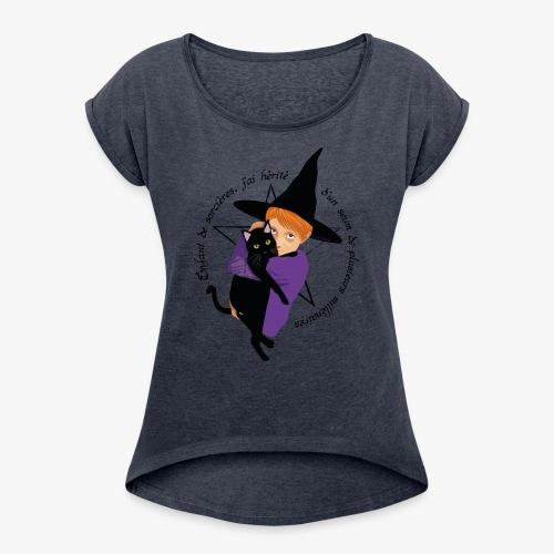 Enfant de sorcières - T-shirt à manches retroussées Femme