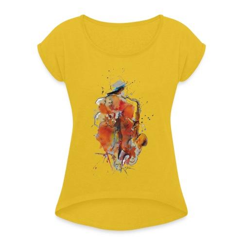 Jazz men - T-shirt à manches retroussées Femme