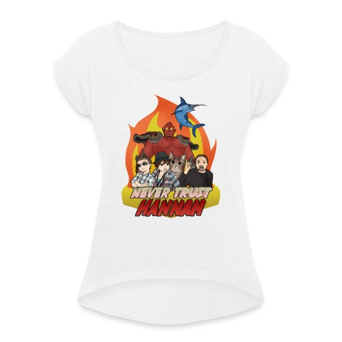 nth shirt png - Women's T-Shirt with rolled up sleeves