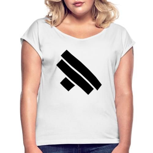 Diagonal Pro Personal Training Logo - Women's T-Shirt with rolled up sleeves
