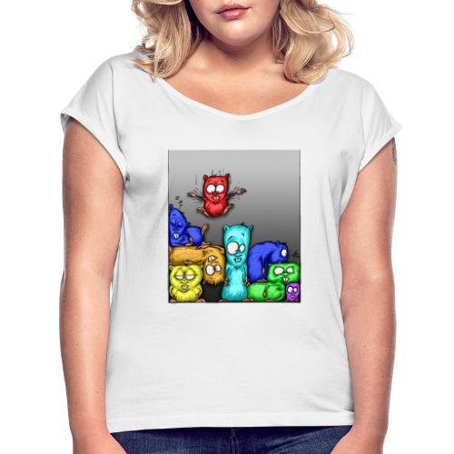 hamstris_farbe - Frauen T-Shirt mit gerollten Ärmeln