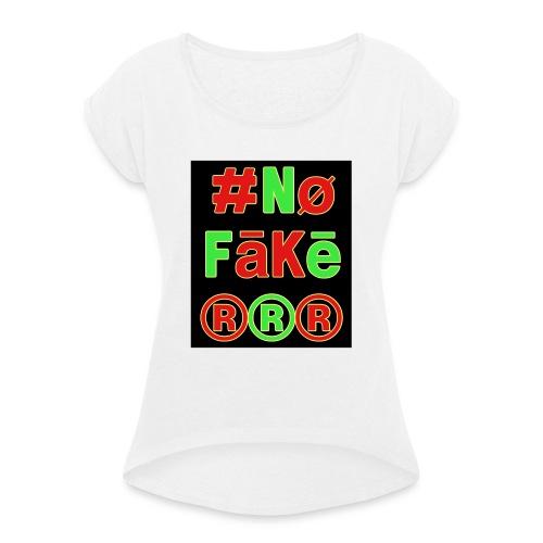 8A49E699 C57C 4CFB B4D2 A9BD16822246 - T-shirt à manches retroussées Femme