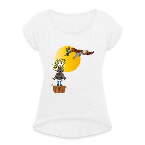 Energiewesen Intufina mit Diva - Frauen T-Shirt mit gerollten Ärmeln