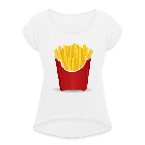 Pommes - Frauen T-Shirt mit gerollten Ärmeln