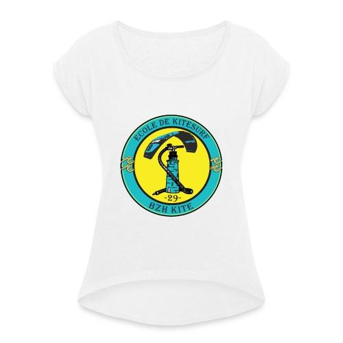 logo bzh - T-shirt à manches retroussées Femme