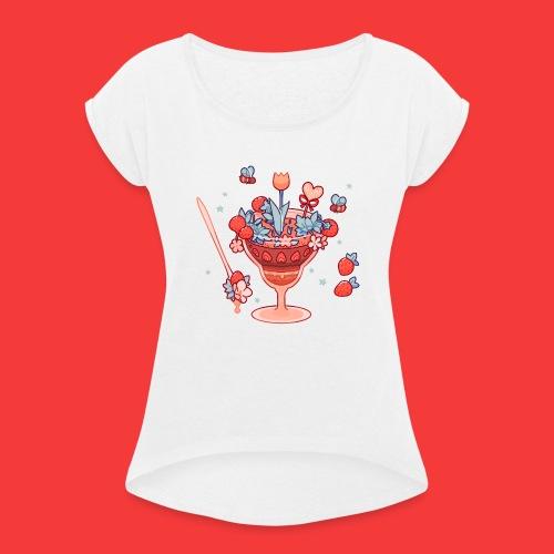 Es frühlingt sehr - Frauen T-Shirt mit gerollten Ärmeln