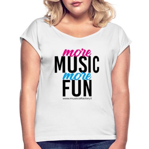 More Music More Fun - Maglietta da donna con risvolti