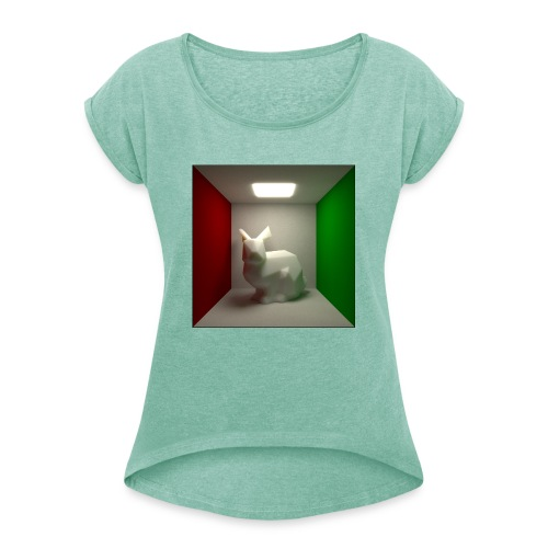 Bunny in a Box - Women's T-Shirt with rolled up sleeves