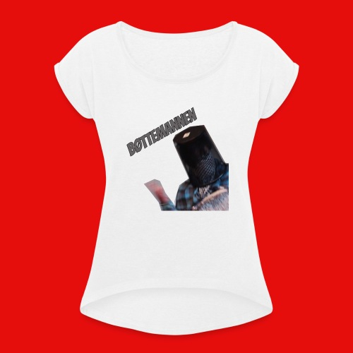 Bøttemannen - T-skjorte med rulleermer for kvinner