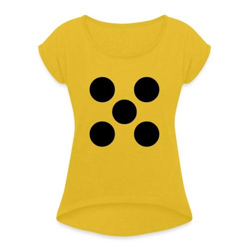 Dado - Camiseta con manga enrollada mujer