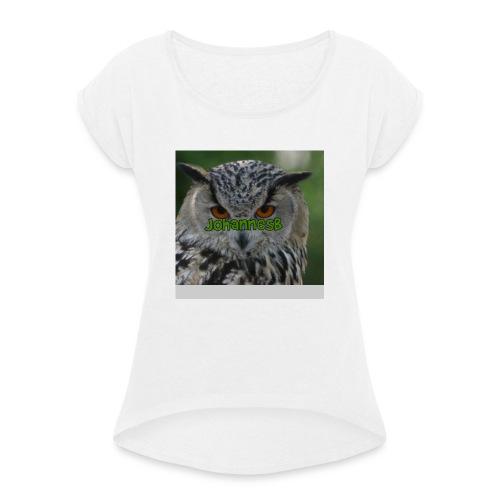 JohannesB lue - T-skjorte med rulleermer for kvinner