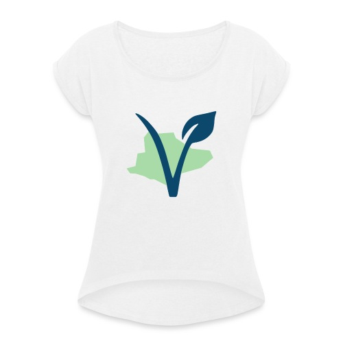 Sussex Vegan - Women's T-Shirt with rolled up sleeves