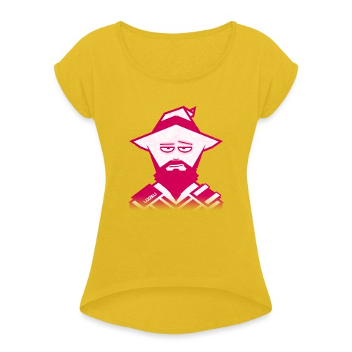uzalu the Wizard - Women's T-Shirt with rolled up sleeves