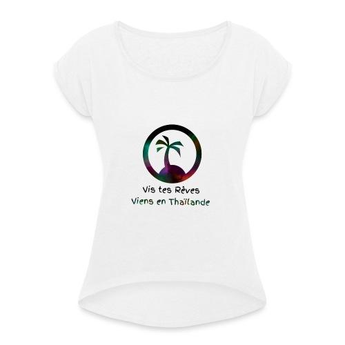 Logopit 1522618107617 - T-shirt à manches retroussées Femme