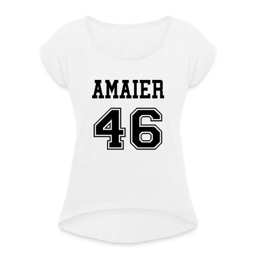 TEAM DEL 46 - Camiseta con manga enrollada mujer