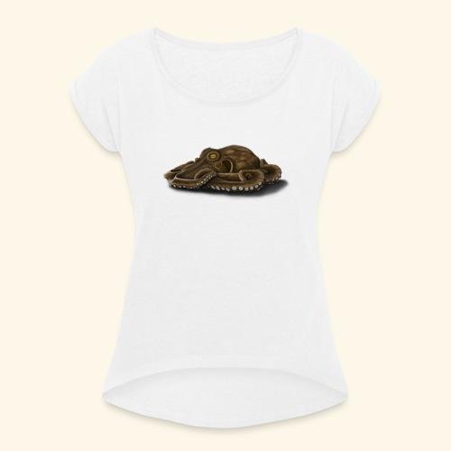 Oktopus - Frauen T-Shirt mit gerollten Ärmeln