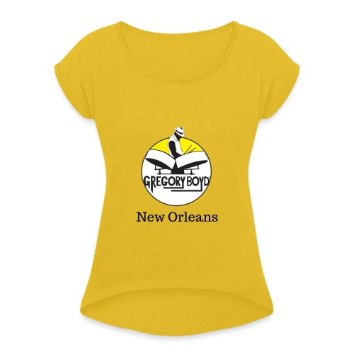 URBAN ISLAND GEAR / NEW ORLEANS STYLE - Dame T-shirt med rulleærmer