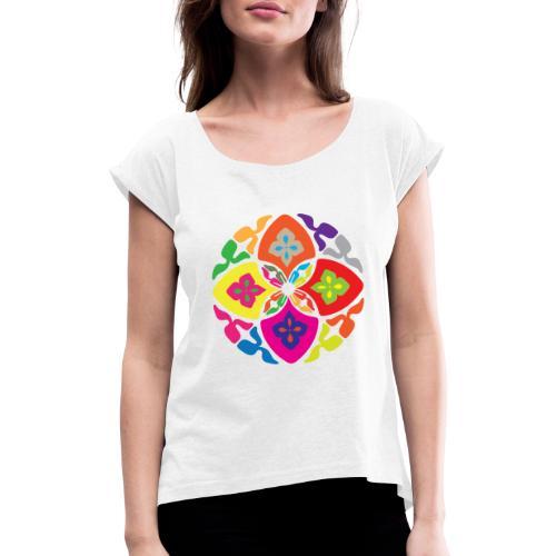 Fiore Caleidoscopio - Maglietta da donna con risvolti