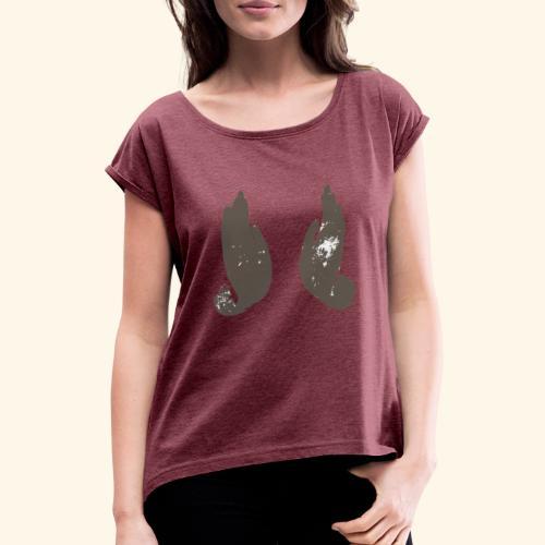 buddhas-hand - Dame T-shirt med rulleærmer