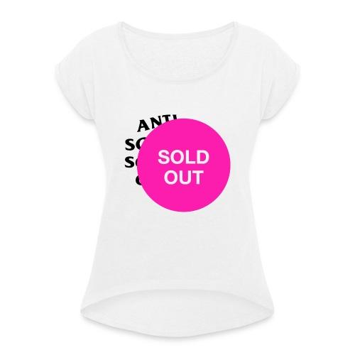 ACCC SoldOut png - Frauen T-Shirt mit gerollten Ärmeln