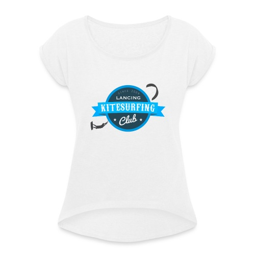 LKSC MAIN LOGO no BG - Women's T-Shirt with rolled up sleeves