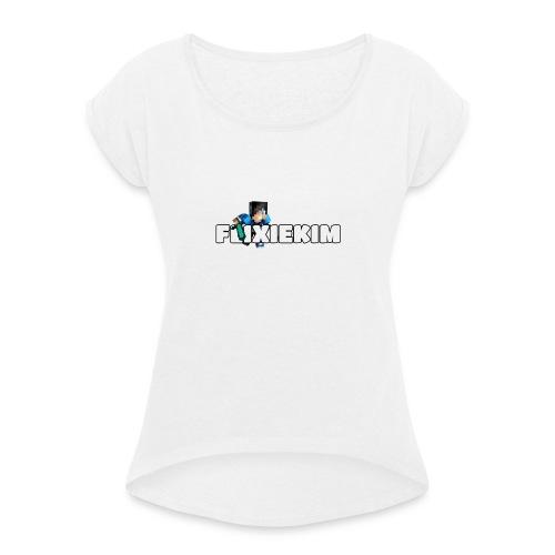 Flixiekim - T-shirt med upprullade ärmar dam
