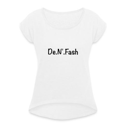 T-shirt premium homme - T-shirt à manches retroussées Femme
