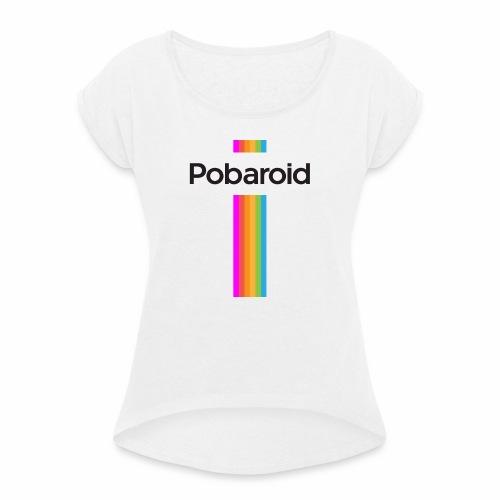 pobaroid - Maglietta da donna con risvolti