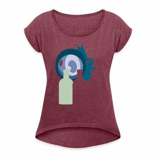 Systembevakningsagenten - T-shirt med upprullade ärmar dam