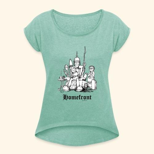 Homefront Heimatfront Waffen Mama Muttersöhnchen - Frauen T-Shirt mit gerollten Ärmeln